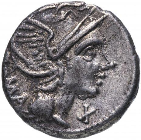 купить Римская Республика, Л.Фламиниий Хилон, 109-108 год до Р.Х.., денарий..