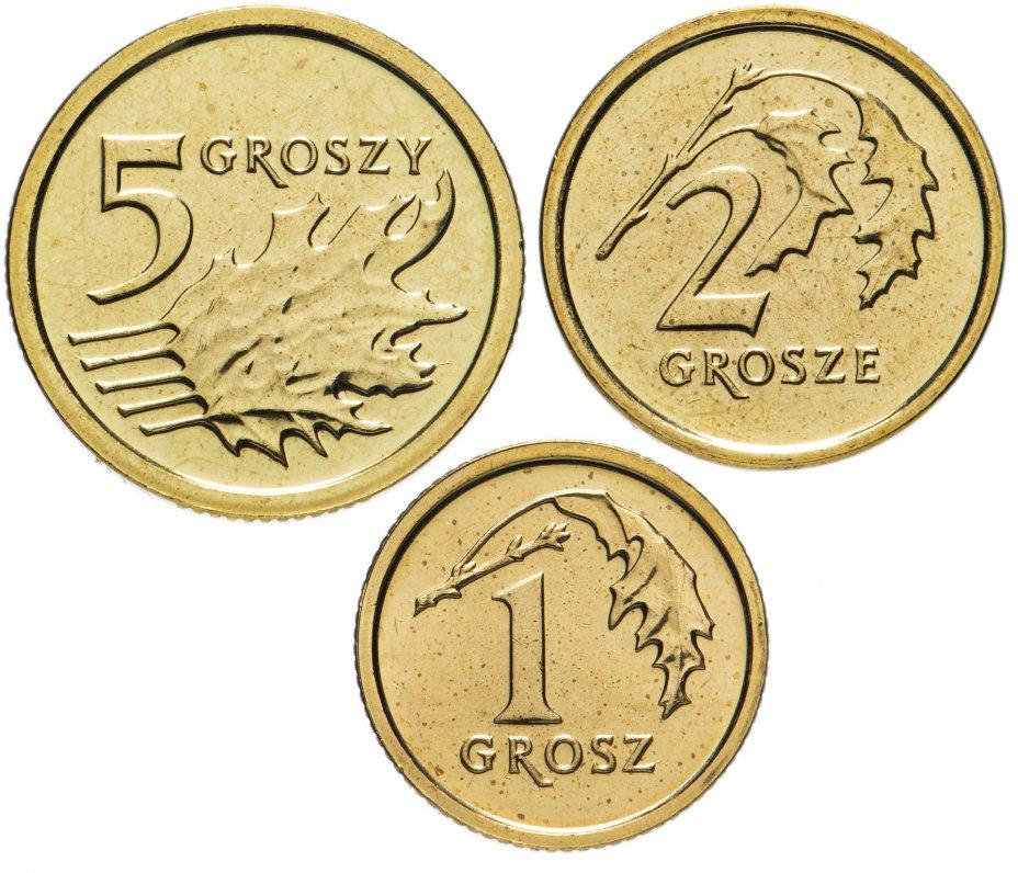 купить Польша набор монет 2014 (3 штуки) новый тип, английский королевский монетный двор