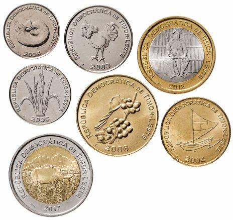 купить Восточный Тимор  набор 7 монет 2003 - 2017 г. 1, 5, 10, 25, 50, 100 и 200 центаво