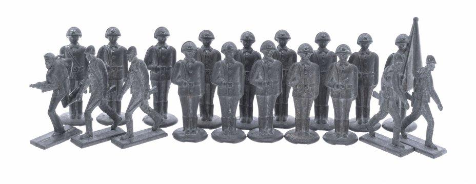 купить Набор оловянных солдат (19 штук) в подборе, олово, СССР, 1970-1990 гг.