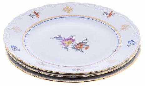 """купить Набор тарелок для закусок на 3 персоны, фарфор, деколь, мануфактура """"Kahla"""", Германия, 1957-1980 гг."""