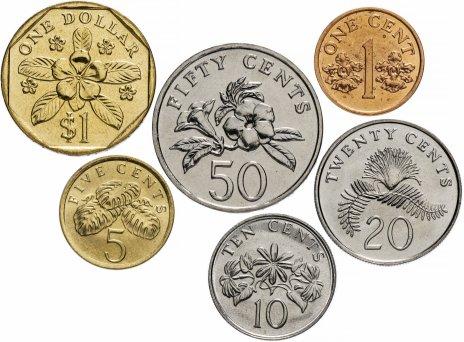 купить Сингапур набор из 6 монет 1986-1991 гг