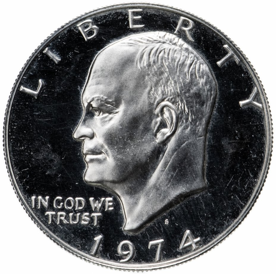 "купить США 1 dollar (доллар) 1974 S ""Дуайт Эйзенхауэр"""