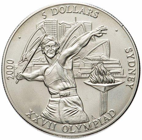 """купить Либерия 5 долларов (dollars) 2000 """"XXVII летние Олимпийские Игры, Сидней 2000"""""""