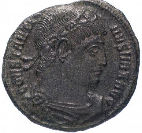 купить Римская Империя Константин I 306–337 гг фоллис (реверс: два воина стоят лицом друг к другу, между ними два штандарта)