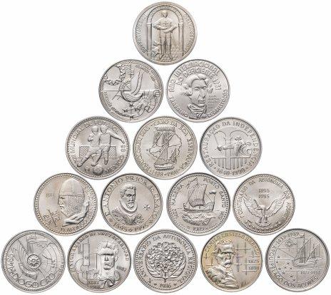 купить Португалия набор из 15 монет 100 эскудо 1981-1990