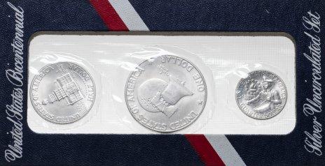 """купить США набор монет 1976 S """"200 лет Независимости США"""" (3 монеты в запайке)"""