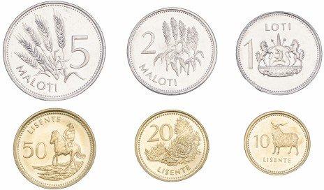 купить Лесото набор монет 1998-2010 (6 штук)