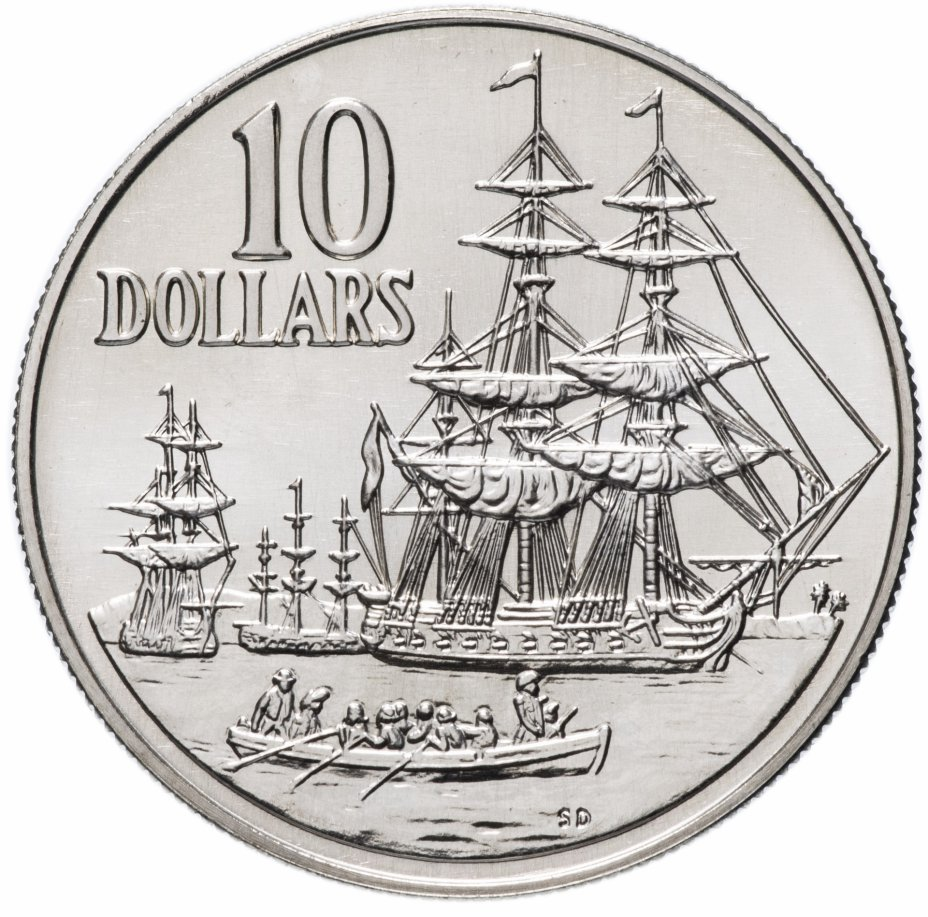 """купить Австралия 10 долларов (dollars) 1988 """"200 лет высадке Артура Филлипа"""""""