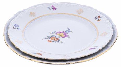 """купить Набор из 2 тарелок с цветочным декором, фарфор, деколь, мануфактура """"Kahla"""", Германия, 1957-1980 гг."""