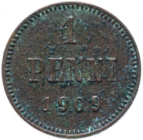 купить 1 пенни 1909, монета для Финляндии