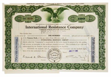 купить Акция США International Resistance Company, 1960 г.