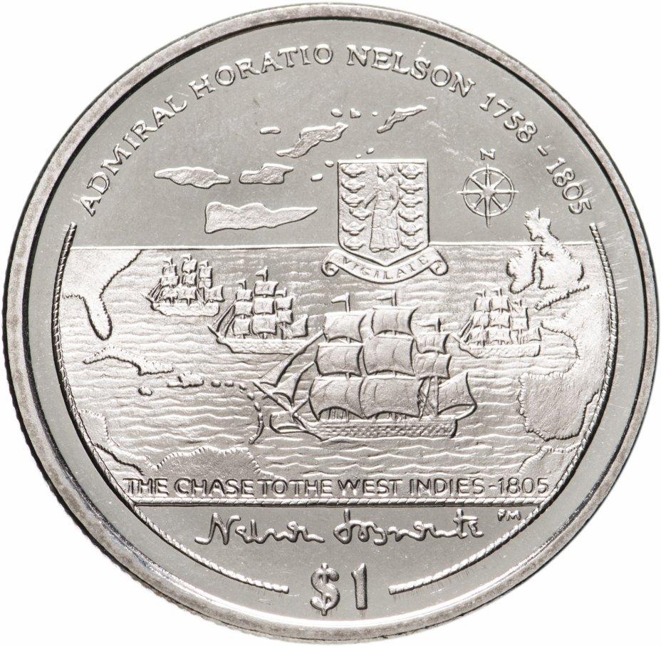 """купить Британские Виргинские острова 1 доллар (dollar) 2005 """" Горацио Нельсон - Погоня в Вест-Индии"""""""