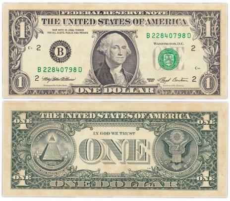 купить США 1 доллар 1993 (Pick 490a) B-Нью Йорк