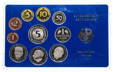 купить ФРГ годовой набор 1981 года в буклете Монетный двор G