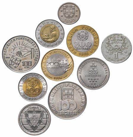 купить Португалия набор из 10 монет 1928-2000