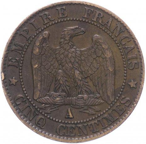 купить Франция 5 сантимов 1856 A