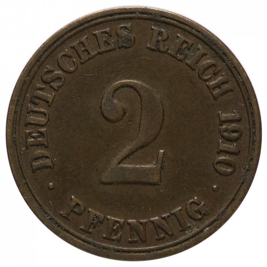 """купить Германия 2 рейх пфеннига 1910 """"А"""""""