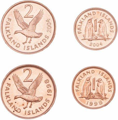 купить Фолклендские острова набор монет 1998-2004 (4 штуки)