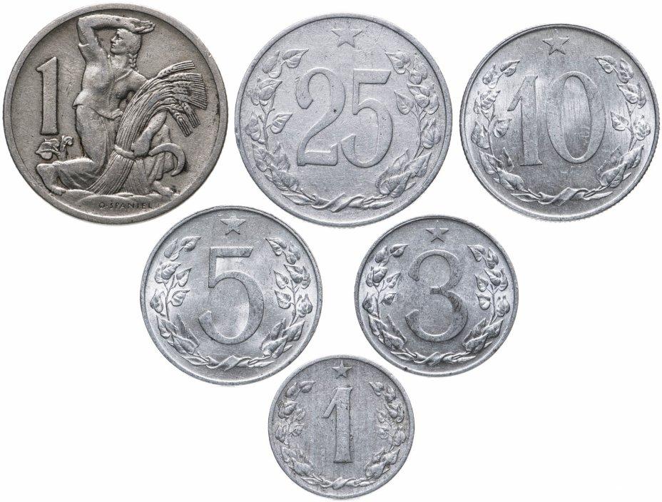 купить Чехословакия, набор из 6 монет 1924-1960 (старый тип герба)