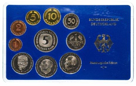 купить ФРГ годовой набор 1981 года в буклете Монетный двор J