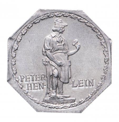 """купить Германия, Нюрнберг 20 пфеннигов 1919 """"Памятник Питеру Хенляйну"""" (трамвайный жетон)"""