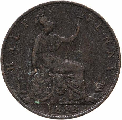 купить Великобритания 1/2 пенни (penny) 1883