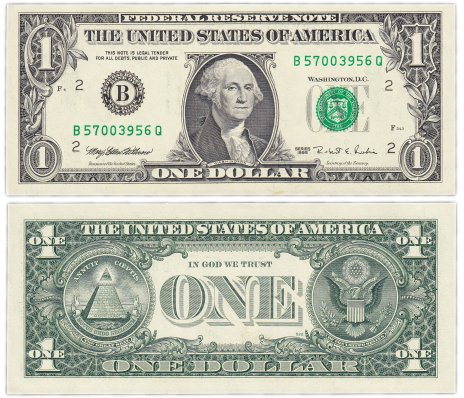купить США 1 доллар 1995 (Pick 496a) B-Нью Йорк