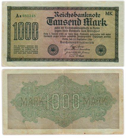 купить Германия 1000 марок 1922 Pick 76е(1)