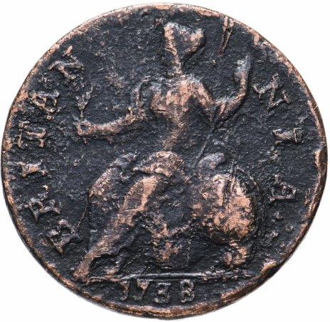 купить Великобритания 1/2 пенни (penny) 1738