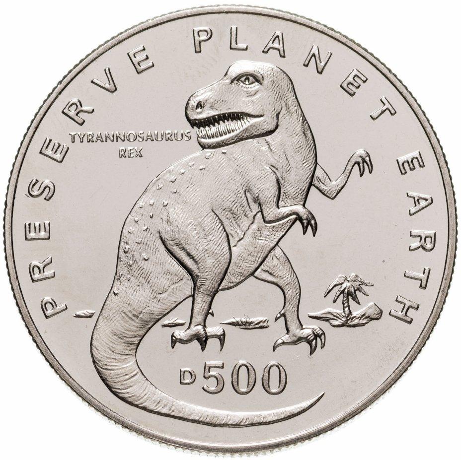 """купить Босния и Герцеговина 500 динаров (dinara) 1993 """"Заповедник планета Земля - Тираннозавр рекс"""""""