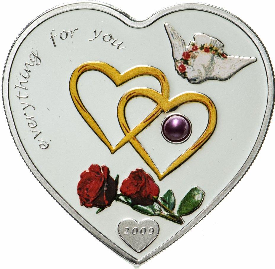 """купить Палау 5 долларов 2009 """"Сердце Все для тебя II"""", в футляре, с сертификатом"""
