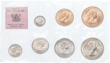 купить Новая Зеландия набор из 7 монет 1965 в запайке