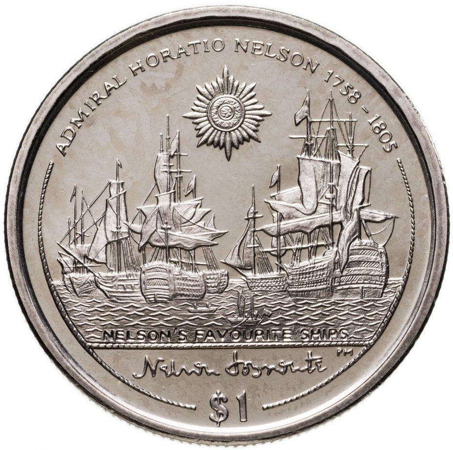 """купить Британские Виргинские острова 1 доллар (dollar) 2005 """"Горацио Нельсон - Любимые корабли Нельсона"""""""