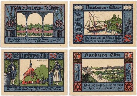 купить Германия (Гамбург: Харбург) набор из 4-х нотгельдов 1921 (580.1a/B1)