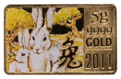 купить Острова Кука 10 долларов 2011 год Кролика, в футляре с сертификатом