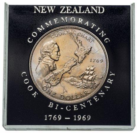 купить Новая Зеландия 1 доллар 1969, в футляре