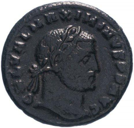 купить Римская Империя Максимин Даза 305–313 гг фоллис (реверс: император стоит в шлеме и доспехах с копьем)