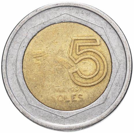 купить Перу 5 новых солей (nuevos soles) 1994-2009, случайная дата
