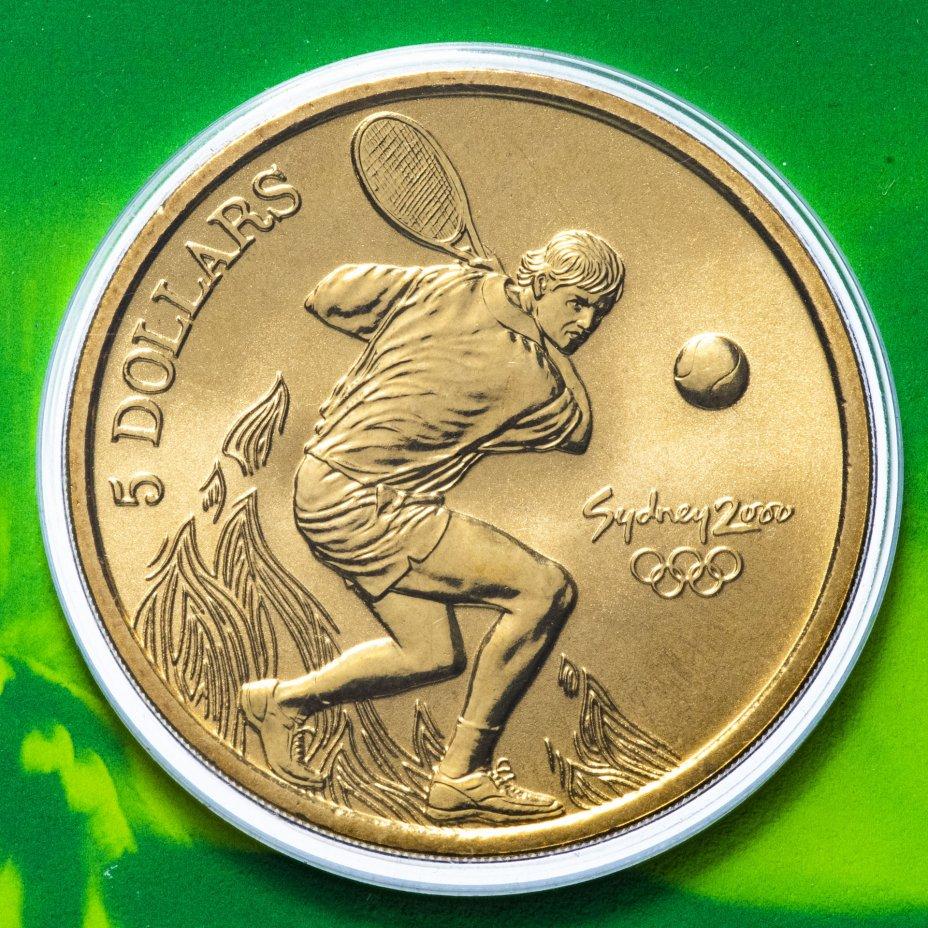 купить Австралия 5 долларов (dollars) 2000 Олимпийские игры в Сиднее - Теннис