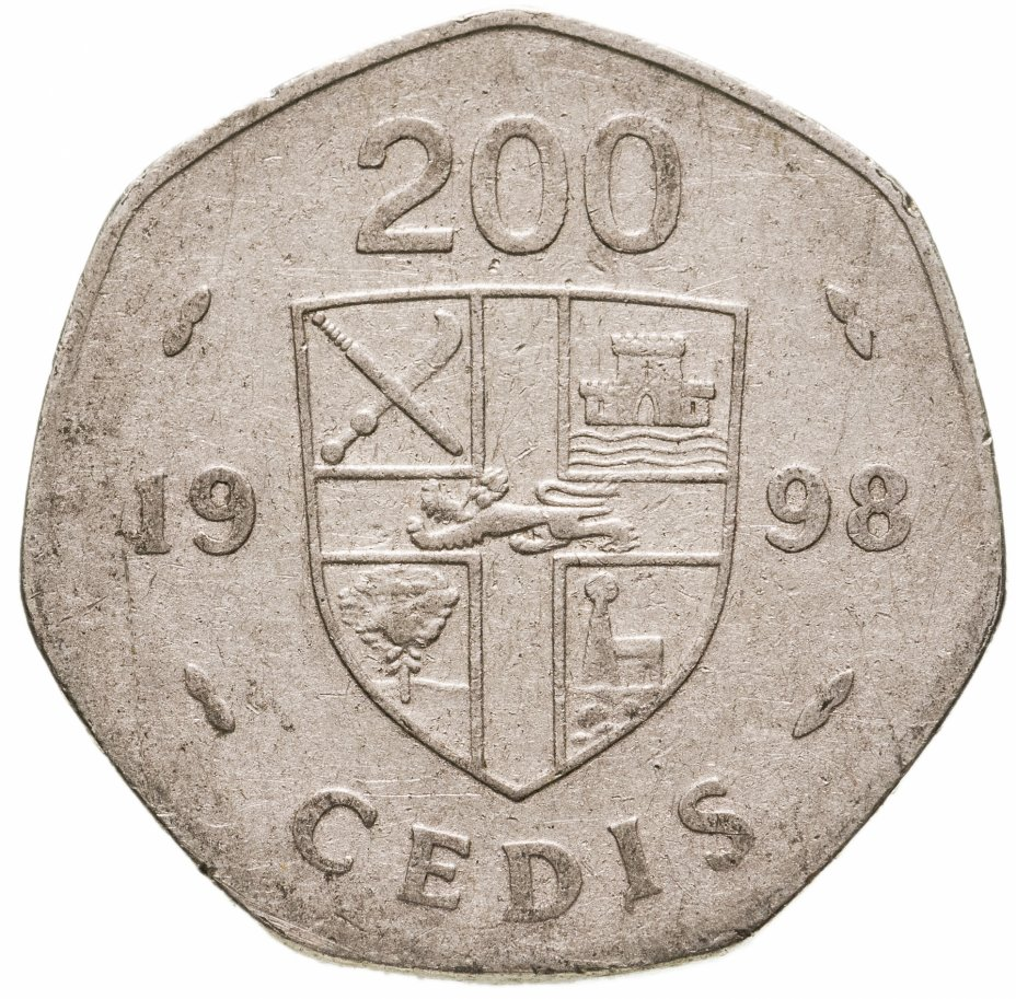 купить Гана 200 седи (cedis) 1998