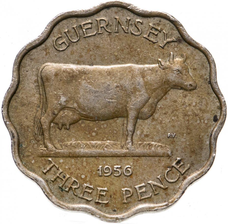 купить Остров Гернси 3 пенса (pence) 1956