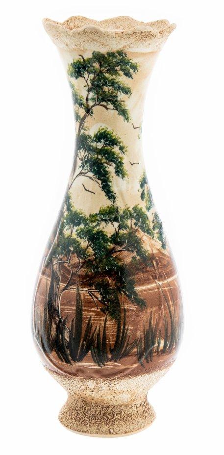 купить Ваза для цветов декорированная живописными изображениями деревьев, керамика, роспись, Россия, 2000-2015 гг.