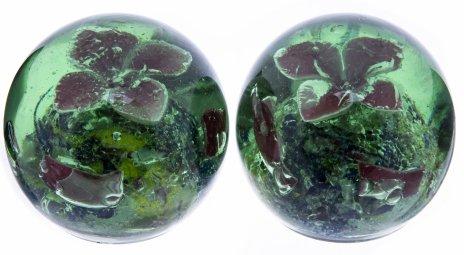"""купить Набор из двух пресс-папье """"Цветочная икебана"""", стекло, Китай, 1970-1990 гг."""