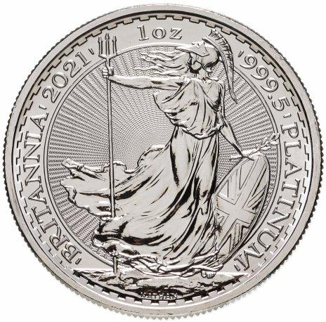 """купить 100 фунтов (Pounds) 2021 """"Британия"""" Платина Елизавета (Великобритания)"""