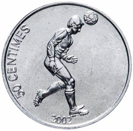 """купить Конго (ДРК) 50 сантимов (centimes) 2002 """"Футболист"""""""