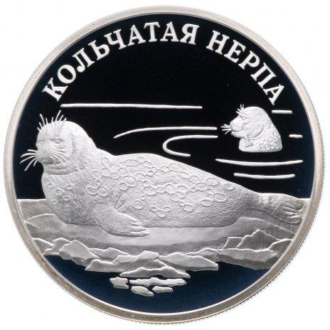 """купить 1 рубль 2007 СПМД Proof """"Красная книга - Кольчатая нерпа"""""""