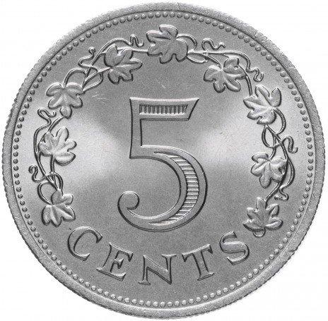 купить Мальта 5 центов 1972