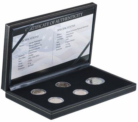 купить США набор из 5 монет 1991-2013 в футляре с сертификатом
