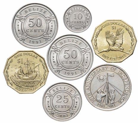 купить Белиз набор из 7 монет 1991-2012